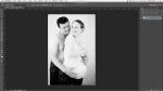 Studio / Post-traitement d'une séance grossesse